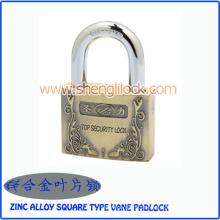 Top de segurança liga de zinco tipo quadrado cadeado de aleta