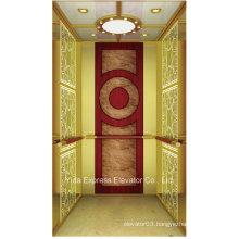 Vvvf Titanium Gold Mirror Home Elevator