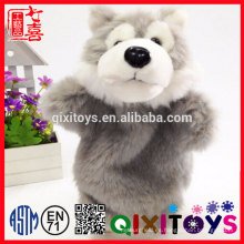 Wolf Animal Design Plastic Eyes and Nose Realistic Animal Puppet Puppet para la venta