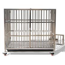 Cage de chien de barre en acier inoxidable pliable et caisse de chien à vendre