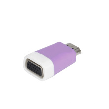 WISTAR HDMI to VGA Adaptor Laptop Adapter DC Plug in Pure PC 12 Months CE FCC ROHS 1000pcs CN;JIA Purple HY-34 T/T