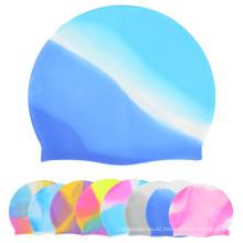 Colorful Silicone Swim Cap/Ear Protection Swim Cap