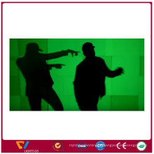 Etiqueta luminosa verde amarela branca para sinais de segurança Fulgor de película fotoluminescente na cobertura escura do vinil