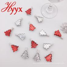 Cadeaux promotionnels HYYX beaucoup style arbre forme des clips en bois de noël clips photo