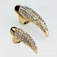 Fashion Punk Style Crystal Eagle Claw Nail Rings Jewelry FR13
