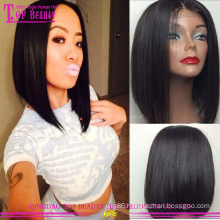 2016 Hot selling 100 brazilian virgin cheap bob full lace wigs with baby hair remy full lace wigs under 100