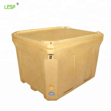 600L LLDPE material plastic fish box with SGS Certificate