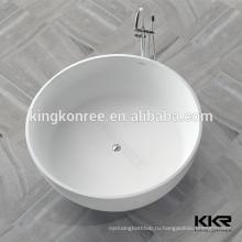 Отдельностоящая ванна смолаы, Отдельностоящая круглая ванна