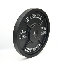 Wholesale Bodybuilding Black Cast Iron Barbell Weight Plates for sale
