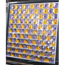 Carrelage en mosaïque en miroir en verre diamant (HD062)