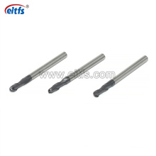 High Hardness Steel Tungsten Carbide 2 Flute Altin Coating Ball Nose End Mill