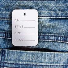 Etiqueta de preço de jeans de alta classe E Etiqueta de rótulo de suspensão de papel