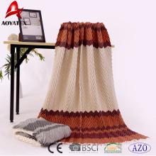 Novo produto impresso crumple 100% acrílico tecido cobertor de lance