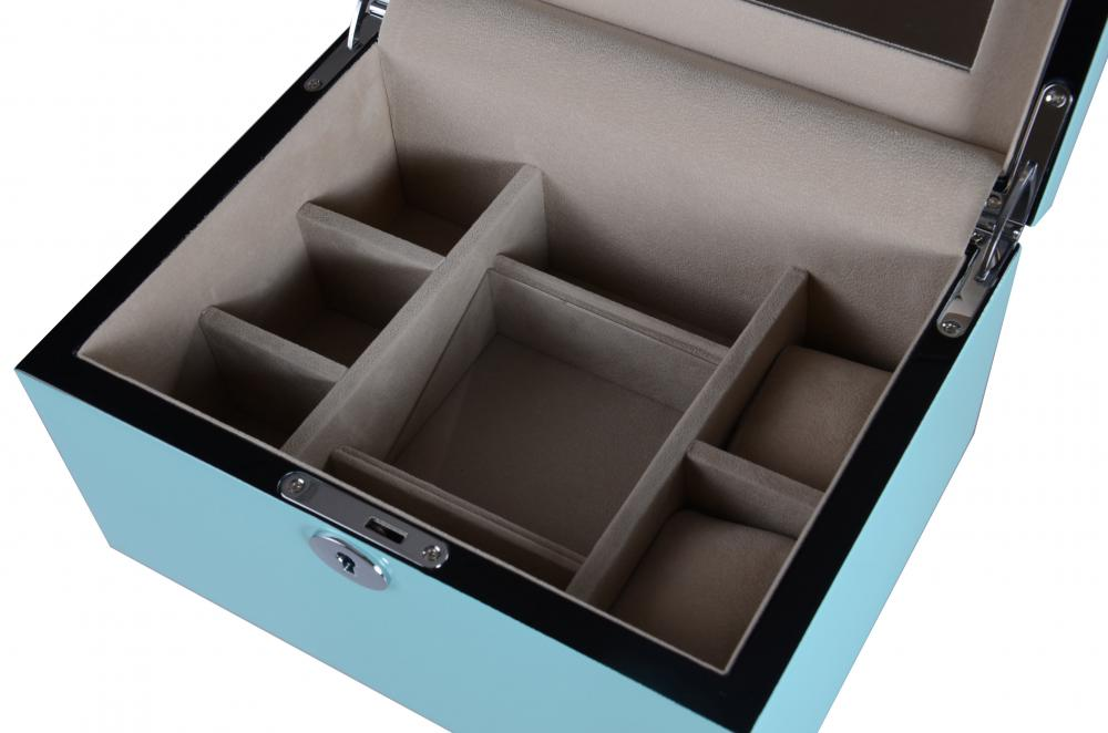 Jb 25 Sky Blue Ladies Jewelry Box Details