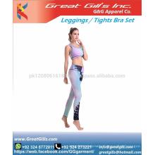 Seamless Push Up Zip Bra Yoga Pants Set,Sports Wear Set