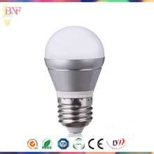 L'ampoule du jour E14 / E27 d'argent 2W / 4W / 6W G45 LED usine pour la vente en gros