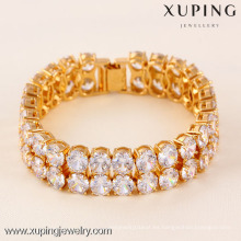 71565 Xuping Fashion Woman Pulsera con baño de oro