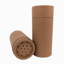 Biodegradável Top Shaker Spice Recipiente de latas para alimentos