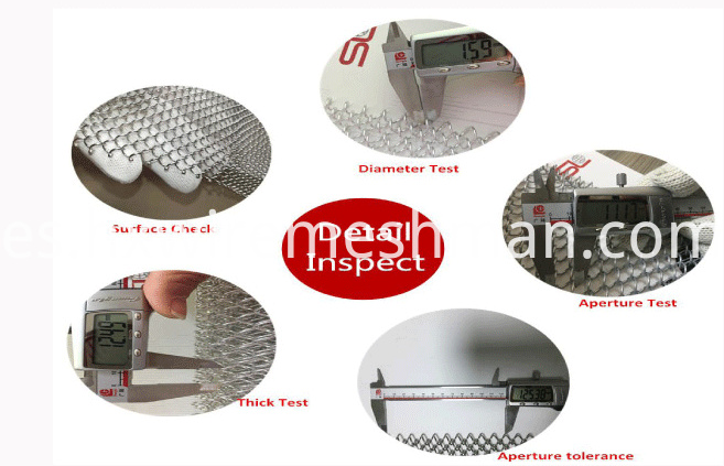 wire mesh curtain inspection
