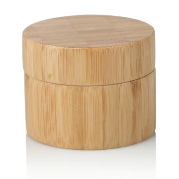 15/20/25/30/50 / 100g bambou pot cosmétique paquet bambou pot avec couvercle en bambou
