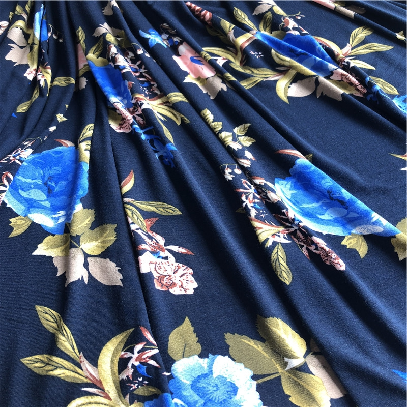 Hotselling 2019 floral printed jersey fabric
