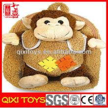 mochila de la felpa del morral del mono del bebé de la felpa para el niño
