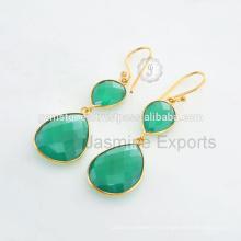 Зеленый Халцедон 925 Серебро Оптовые Ювелирные Изделия
