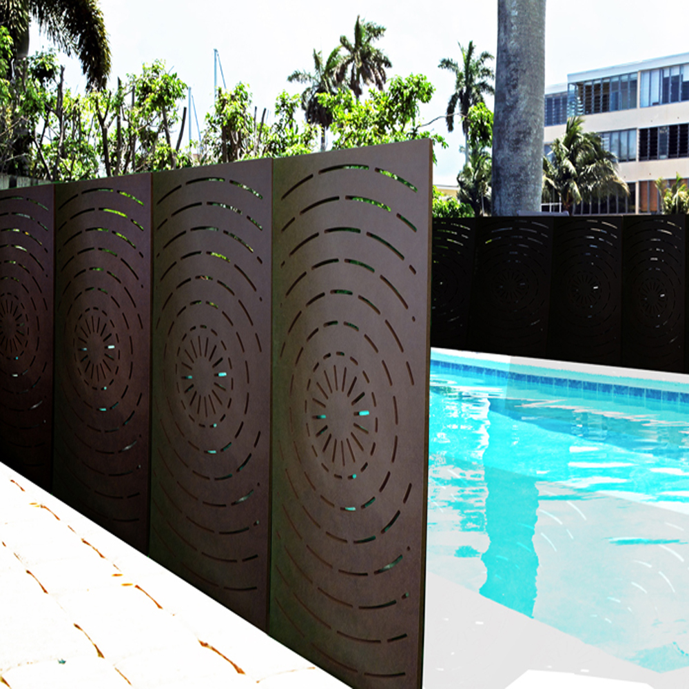 Corten Steel Fence Screening Panels