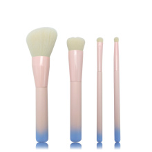 4pc ombre wood handle makeup brush set