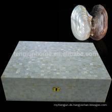 CCFW-CH Luxus Geschenk Humidor Zigarre Uhrenbox mit Süßwasser-Shell