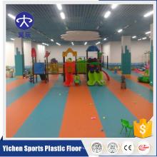 Shijiazhuang YICHEN anti-dérapant coloré maternelle plancher de vinyle