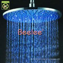"""12 """"ducha de lluvia redonda del cuarto de baño del LED cabeza de cobre amarillo Qh326bf"""