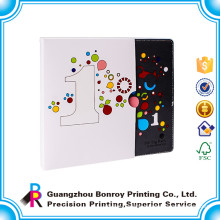 Guangzhou factory manufacture high quality custom colorful printing English book sleeve box