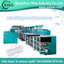 Servo Control Health Care Ultra Thin Sanitary Towels Making Machine