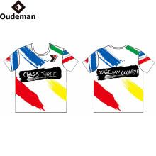 logotipo de impresión sublimada Camiseta personalizada Camiseta de ajuste seco de precio de fábrica de impresión