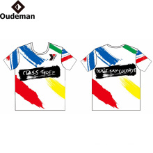 sublimated print logo Custom T Shirt Printing factory price dry fit t shirt
