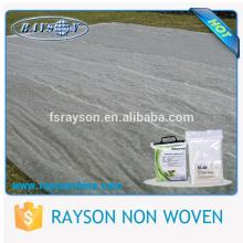 Estufa agrícola PP, tela à terra branca não tecida da tampa de esteira da erva daninha do animal de estimação