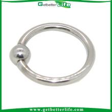 Amor anel prisioneiro do grânulo de fechamento Piercing no lábio anel