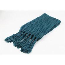 Unisexe hiver chaud poinçon points classiques franges lourd tricoté écharpe (SK169)