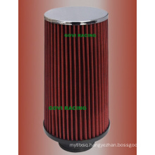 230mm Height Red Car Air Filter with 76mm/89mm/102mm Universal
