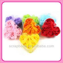 schöne herzförmige rose Seife Blumen
