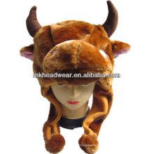 Niños sombrero de peluche lindo animal con forro de lana