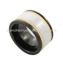 Venta al por mayor de anillo de cerámica en blanco y negro Bands para las mujeres y los hombres Su y su joyería