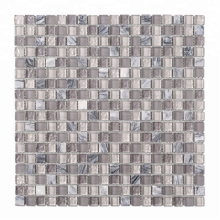 High-end Fashion 15*15 Gray Square Cracked Glass Mosaic Tiles