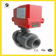 Atuador motorizado de 2 vias com válvula de esfera para equipamento industrial mini-automóvel, Equipamento pequeno para controle automático