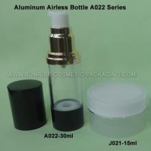 Flacon Airless de 30ml en aluminium avec Base noire