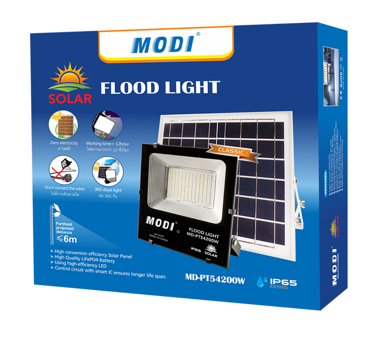 Outdoor fixed solar garden light