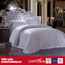 100% algodón 200TC satén impresión ropa de cama Hotel Hotel Imprimir