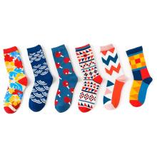 Custom Made Mens Dress Crew Cotton Sock Men's Funny Custom Socks Colorful