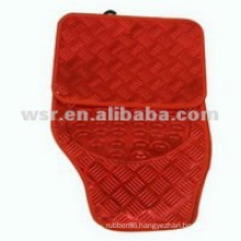 Novelty silicone rubber molded red car mat with high quality